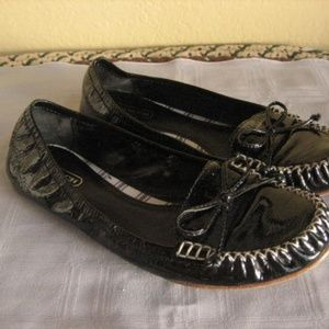 Coach Flats Black Patent Leather 7.5